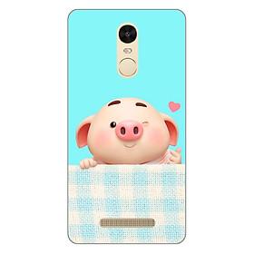 Ốp lưng dẻo cho điện thoại Xiaomi Redmi Note 3 _Pig Cute 07