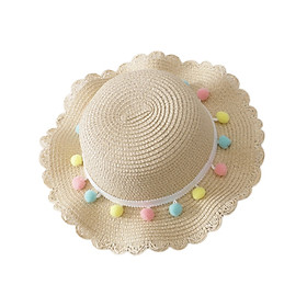 Newborn Photography Props Straw kids Baby Hat Floral Baby Beach Cap Summer Baby Girl Hat Sun Visor Caps With Bag