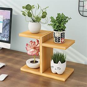 Kệ Để Bàn Hoa  và cây cảnh Giá Đỡ Đứng sang trọng gỗ tự nhiên sơn PU kích thước 30x25x12 cm