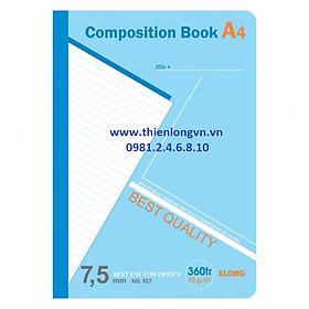 Sổ may dán gáy A4 - 360 trang; Klong 927 xanh dương