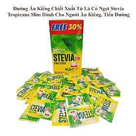 Hộp 65 Gói Đường Ăn Kiêng Tropicana Slim Chiết Xuất Từ Lá Cỏ Ngọt Stevia Cho Người  Người Tiểu Đường, Ăn Theo Chế Độ Healthy, Eatclean