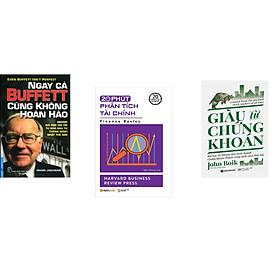 Combo 3 cuốn sách: Ngay Cả Buffett Cũng Không Hoàn Hảo + 20 Phút Phân Tích Tài Chính + Giàu Từ Chứng Khoán