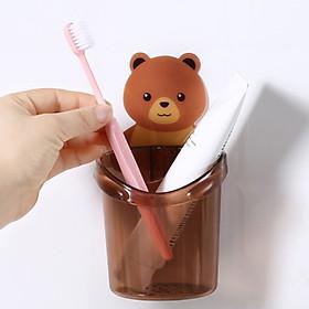 Cốc đựng bàn chải kem đánh răng hình gấu
