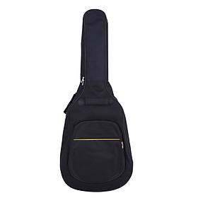 Túi Đựng Guitar Cổ Điển Diều Chỉnh Được Dây Đeo Dày Có Đệm Đen (41/4mm)