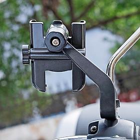 Giá đỡ kẹp điện thoại cho xe máy/ xe mô tô Selfiecom C2 - Chống trộm, chống rung lắc, dễ dàng lắp đặt