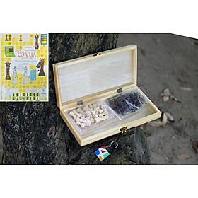 Bộ cờ vua tiêu chuẩn quốc tế, đồ chơi dành cho trẻ em an toàn, đồ chơi gỗ thông minh cho bé - Tặng hướng dẫn chơi cờ vua.