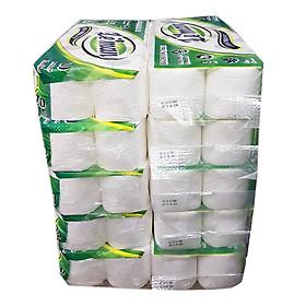 Cây giấy vệ sinh Leman Xanh Lá 3 lớp (100 cuộn)