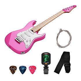 Mini 2/4 Right Handed Bolt-on Electric Guitar Alder Body Maple Neck Fingerboard White Pearl Guard Plate SSS Pickup for
