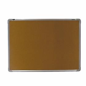 Bảng ghim Lie (gỗ bần) treo tường Easyboard - khung nhôm - kích thước 60x80cm