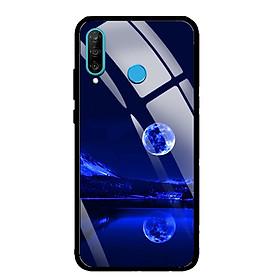 Ốp Lưng Kính Cường Lực cho điện thoại Huawei P30 Lite - 0269 MOON02 - Hàng Chính Hãng