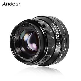 Andoer 35mm F1.4 Manual Focus Camera Lens Full Frame Large Aperture Lens Replacement for Nikon Z5/Z6/Z7/Z50 Z-Mount