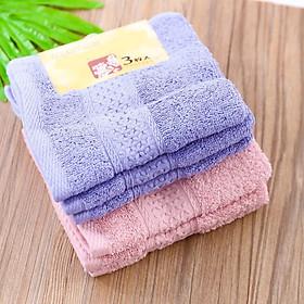 Set 3 khăn mặt coton Nhật Bản mềm mịn (giao màu ngẫu nhiên)