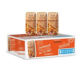 Thùng Sữa Hạnh Nhân Nguyên Chất 137 DEGREES 180ml (Thùng 36 hộp)