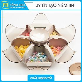 Khay Mứt Tết Đựng Bánh Kẹo Cao Cấp, Sang Trọng 6 Cánh Hoa Tự Bung, khay đựng bánh kẹo tết