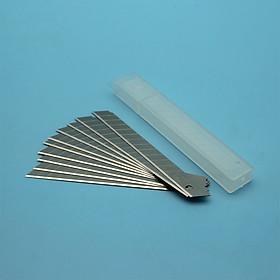 bộ 5 Hộp (mỗi hộp 10 lưỡi) dao rọc giấy khổ nhỏ Berrylion A80