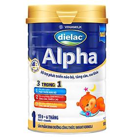 Sữa Bột Vinamilk Dielac Alpha 1 - Hộp Thiếc 900g