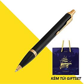 Bút Bi Parker  IM Black Lacquer Kèm Túi Giftset B&J Cao Cấp dành cho doanh nhân, khẳng định đẳng cấp cá nhân B&J