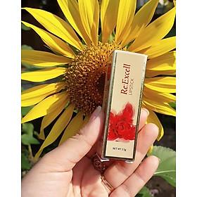 Son môi Re:Excell LIPSTICK, hàng nhập khẩu LB Cosmetic HÀN QUỐC không chì, chống thâm môi, chiết xuất từ thiên nhiên, dưỡng môi mềm mịn, lên màu môi chuẩn, bền màu tới 24h, không chứa chất độc hại với sức khỏe, 3,5g-4