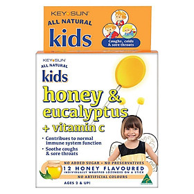 Key Sun All Natural Kids Honey and Eucalyptus Plus Vitamin C 12 Lozenges