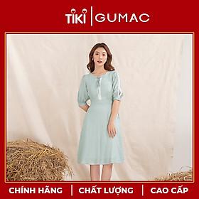 Đầm váy nữ DA1082 GUMAC thiết kế tay xẻ đăng ten