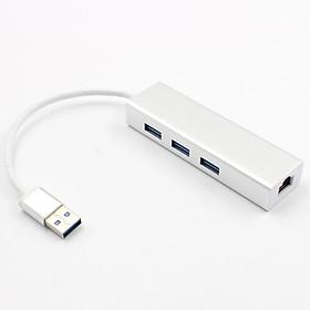 Hub 3 Cổng USB3.0 Chuyển Đổi Mạng Gigabit Ethernet Lan RJ45 Sang 1000Mbps Mac PC