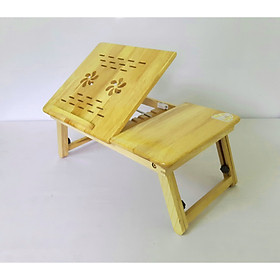 Bàn kê laptop cao cấp bằng gỗ cao su