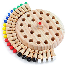 Children's Intelligent Toys Colorful Memory Chess Wooden Memory Matchstick Chess Game Memory Developing Chess Family