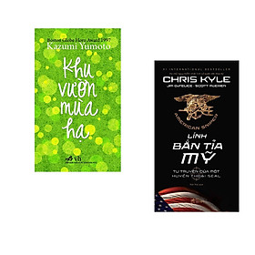 Combo 2 cuốn sách: Khu vườn mùa hạ + Lính bắn tỉa Mỹ