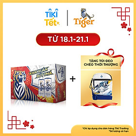 Thùng 24 Lon Tiger Crystal Lon Cao (330ml/Lon) - Bao Bì Xuân