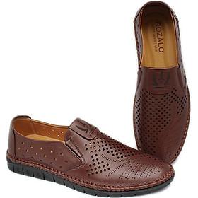 Giày lười nam đục lỗ da bò Rozalo R6109