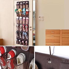 Túi để giày treo tường gắn cửa 24 ngăn
