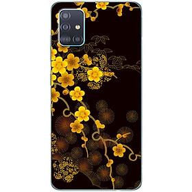 Ốp lưng dành cho Samsung A51 mẫu Cành mai vàng