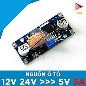 Nguồn Ô TÔ 5A - Chuyển Đổi Điện ẮC-QUY 12V 24V về 5V 5A