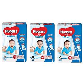 3 Gói Tã Dán Huggies Dry Gói Đại M48 (48 Miếng) - Bao Bì Mới-0