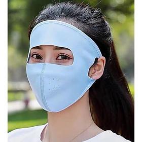 Combo Khẩu trang Ninja kèm Kính Nữ che kín toàn bộ mặt siêu chống khuẩn bụi, chống nắng