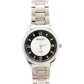 Đồng Hồ Nam Halei HLL489 Dây trắng (Tặng pin Nhật sẵn trong đồng hồ + Móc Khóa gỗ Đồng hồ 888 y hình + Hộp Chính Hãng+ Thẻ Bảo Hành)