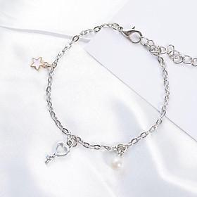 Vòng tay gốm xích Chìa khóa lắc tay nữ phong cách Hàn Quốc tặng ảnh Vcone