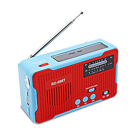 Multiple Use Solar Powered Or Power Generation by Hand FM AM Radio With 1LED Flashlight USB Emergency Charger Emergency