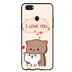 Ốp lưng viền TPU cho điện thoại Oppo F5 - I Love U