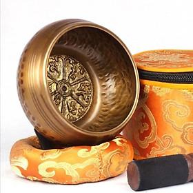 Chuông xoay/ chén hát Tây Tạng chế tác thủ công dùng cho nội thất gia đinh, thờ cúng, yoga và thiền