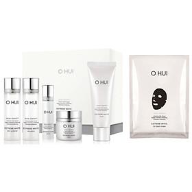 Combo Bộ dưỡng trắng Ohui Extreme White 5pcs và Mặt nạ dưỡng trắng OH 3D mask