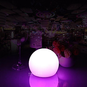 USB Rechargeable 7Colors Change Round Ball Shape LED Table Light