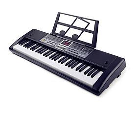 Đàn piano điện 61 phím kèm sạc, micro và giá đỡ nhạc lý