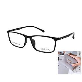 Gọng kính, mắt kính chính hãng SARIFA A1318 C01 (53-15-145) - Tặng 1 ví cầm tay (màu ngẫu nhiên)