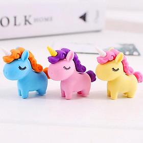 Gôm tẩy hình Unicorn đủ màu sắc sáng tạo chất cao su mềm tẩy sạch giúp bé hứng thú hơn với những giờ học – H034