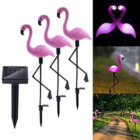 3 LEDs Solar-power Garden Light Flamingo Lawn Lamp Waterproof Night Light for Outdoor Garden Decoration