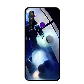Ốp lưng kính cường lực cho điện thoại Realme 5 Pro - 0294 PANDA - Hàng Chính Hãng