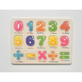 Bảng ghép 9 số và phép toán song ngữ MK00131