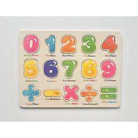 Bảng ghép 9 số và phép toán song ngữ MK00132