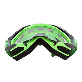 Motorcycle Windproof Anti-Fog Dustproof Goggles Clear Lens Black